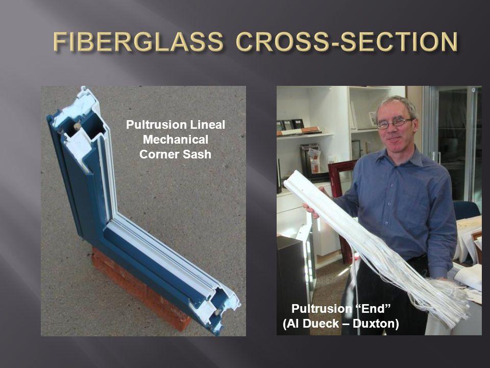 "Pultrusion Lineal Mechanical Corner Sash Pultrusion ""End"" (Al Dueck – Duxton)"