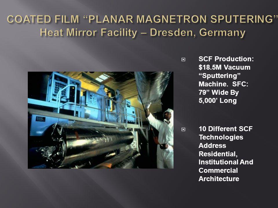  SCF Production: $18.5M Vacuum Sputtering Machine.