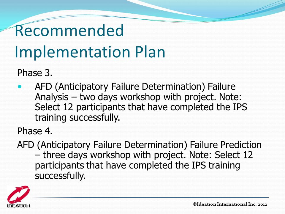 Recommended Implementation Plan Phase 3.