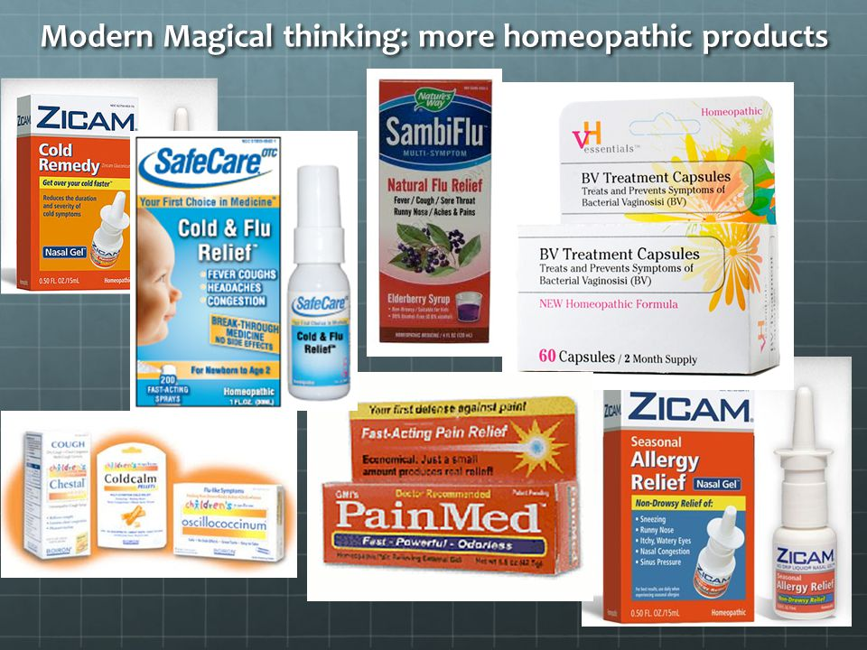 Modern Magical thinking: more homeopathic products