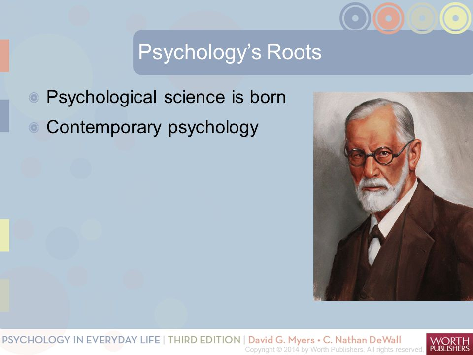Psychology's Roots Psychological science is born Contemporary psychology