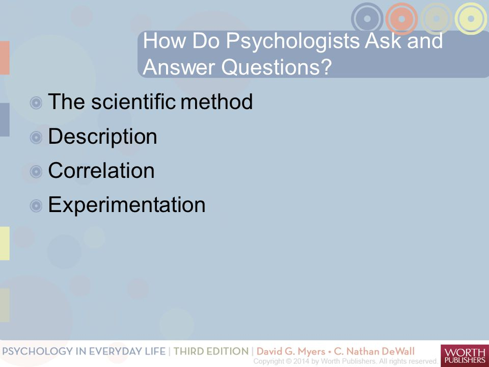How Do Psychologists Ask and Answer Questions.