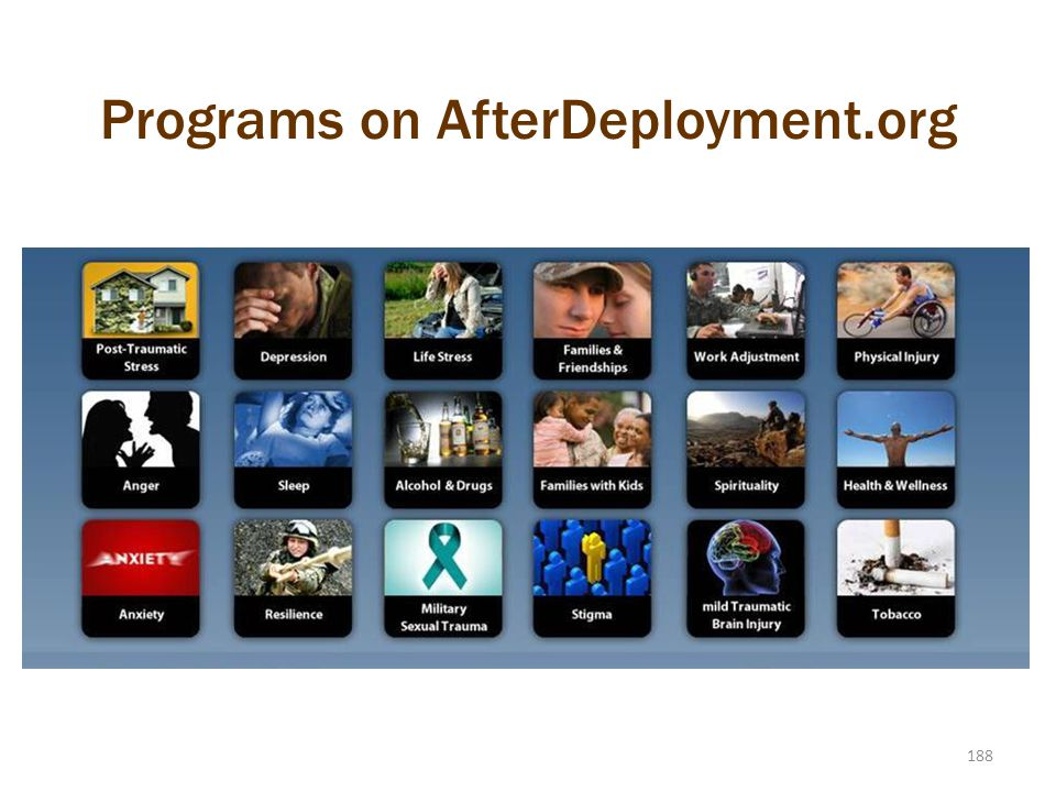188 Programs on AfterDeployment.org