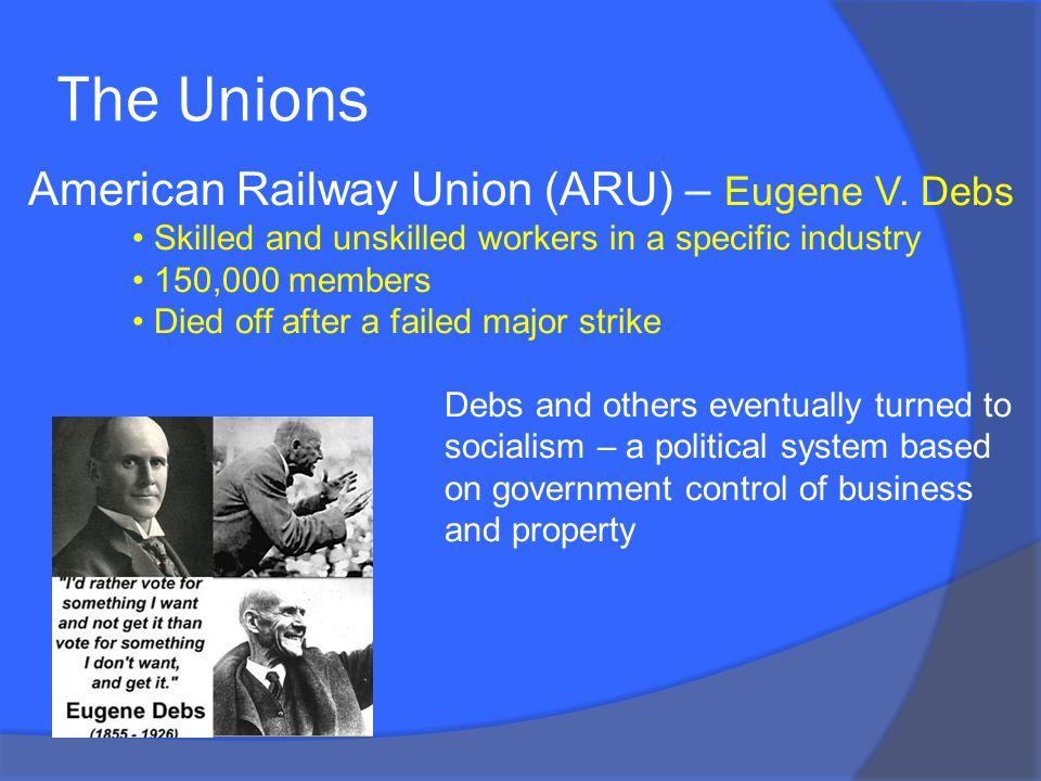 The Unions American Railway Union (ARU) – Eugene V.