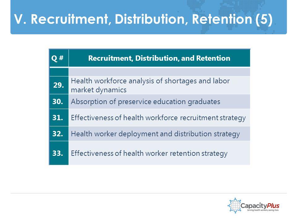 V. Recruitment, Distribution, Retention (5) 17 Q #Recruitment, Distribution, and Retention 29.