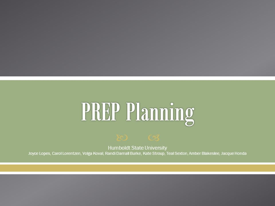Agenda  Overview of PREP Planning  Resource request process  Next steps