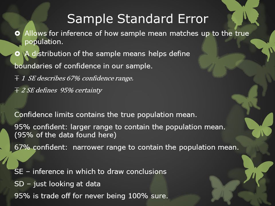Sample Standard Error