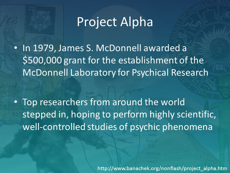 Project Alpha In 1979, James S.