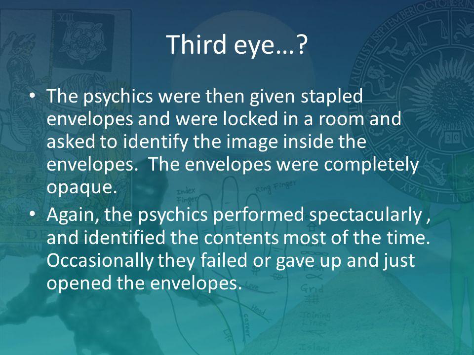 Third eye….