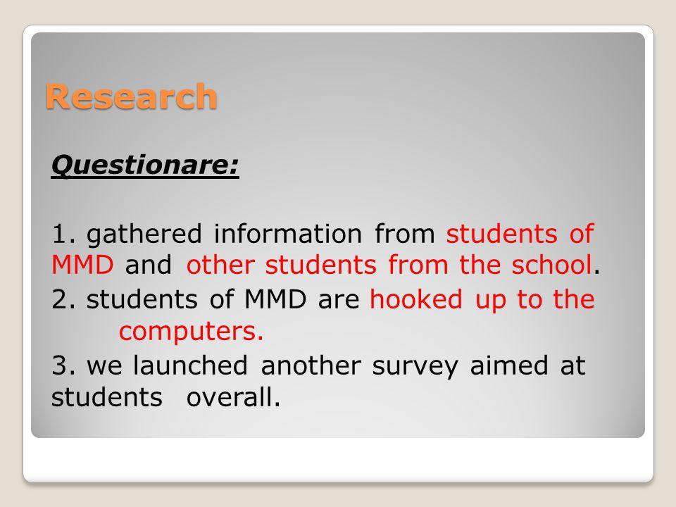 Research Questionare: 1.
