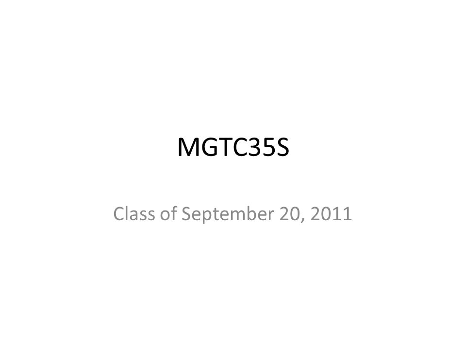 MGTC35S Class of September 20, 2011
