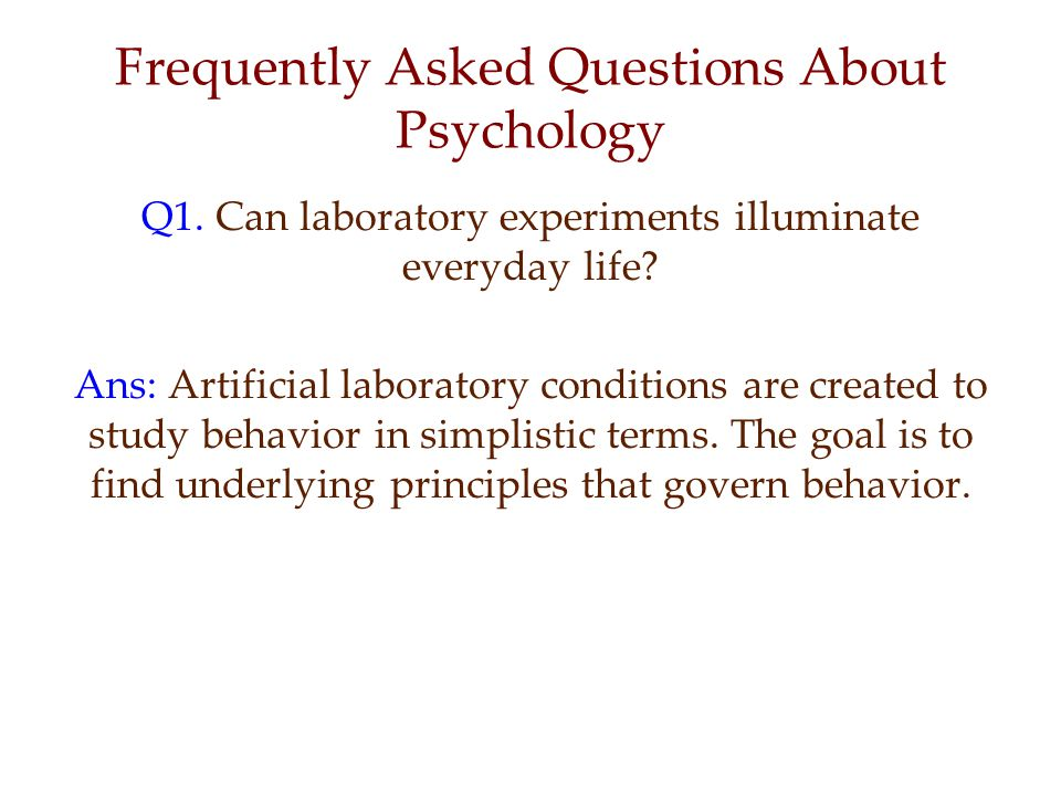 FAQ Q2.Does behavior depend on one's culture and gender.