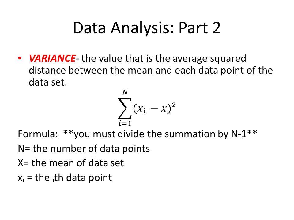 Data Analysis: Part 2
