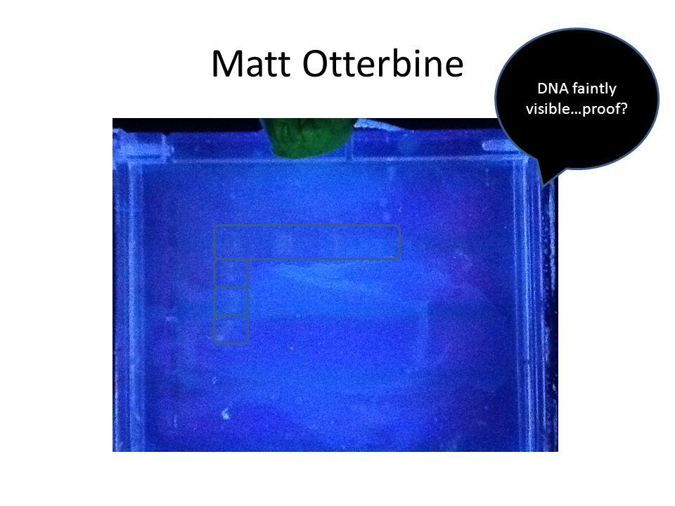Matt Otterbine DNA faintly visible…proof
