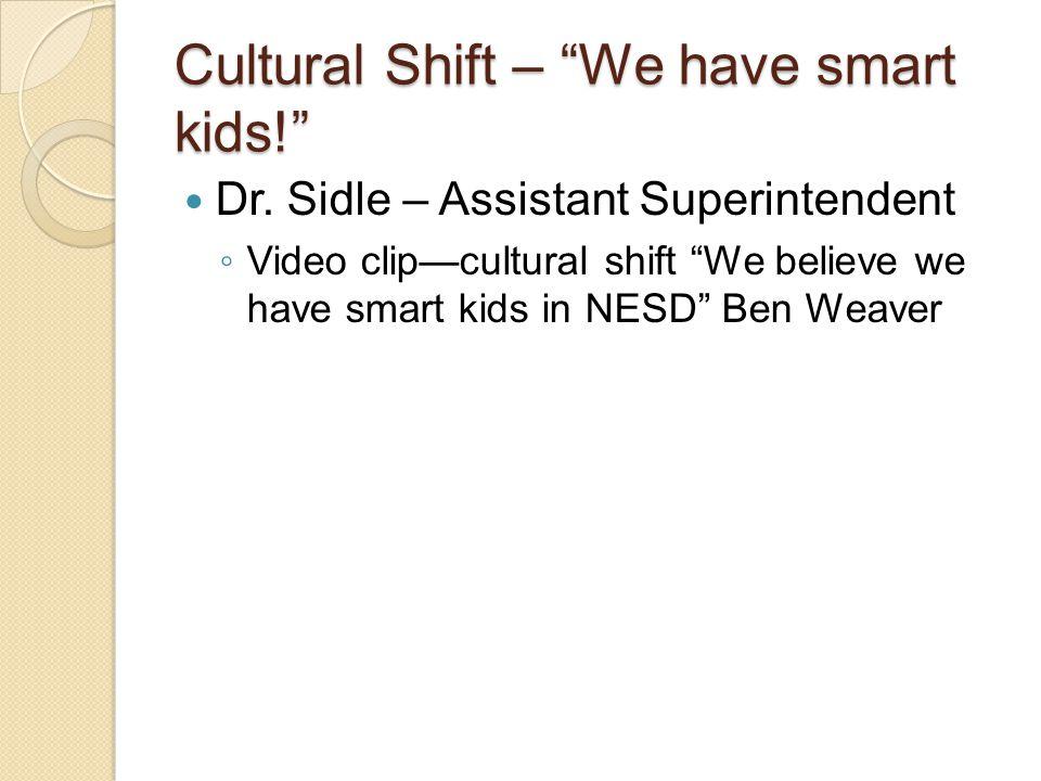 Cultural Shift – We have smart kids! Dr.