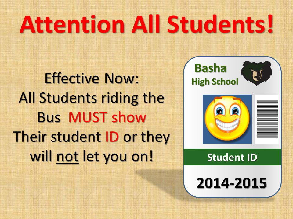 Attention All Students.