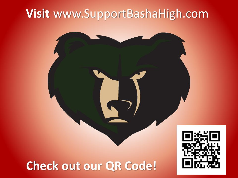 Check out our QR Code! Visit www.SupportBashaHigh.com