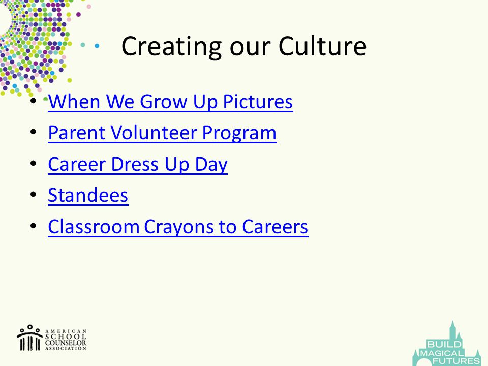 Creating our Culture When We Grow Up Pictures Parent Volunteer Program Career Dress Up Day Standees Classroom Crayons to Careers