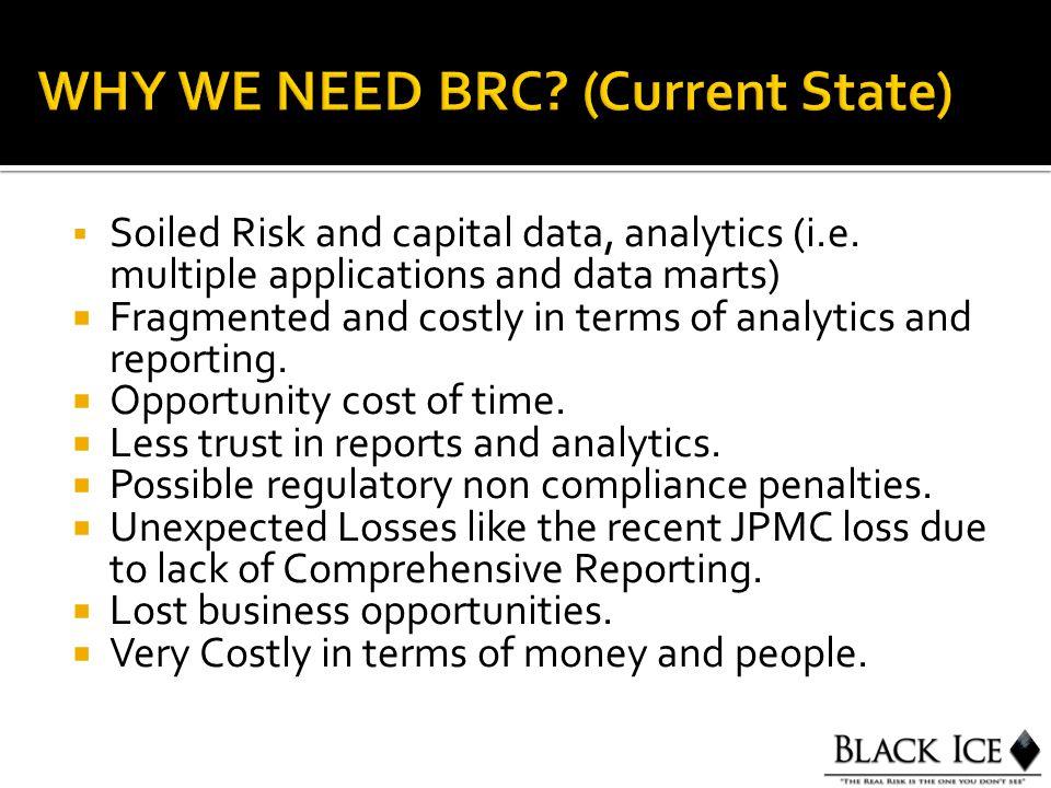  Soiled Risk and capital data, analytics (i.e.