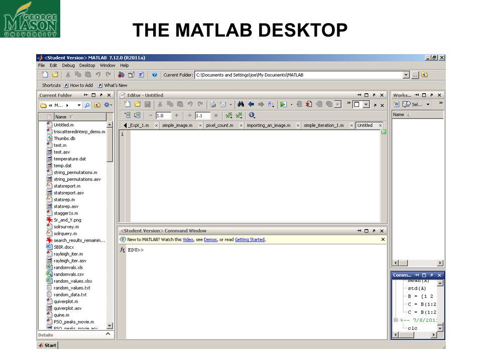 THE MATLAB DESKTOP