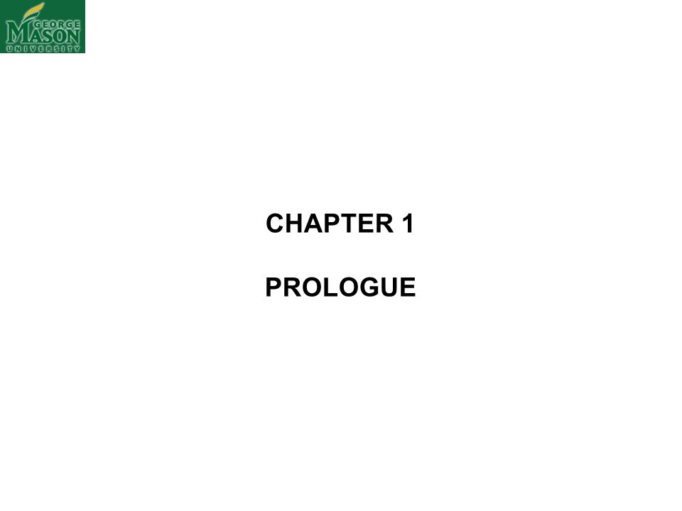 CHAPTER 1 PROLOGUE