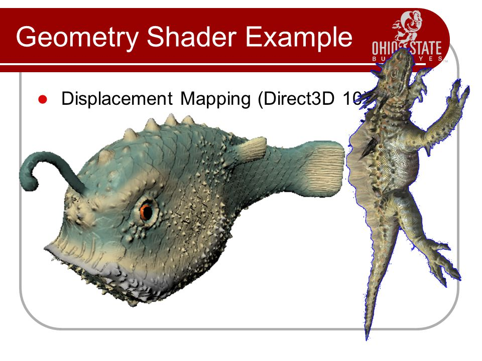 Displacement Mapping (Direct3D 10) Geometry Shader Example