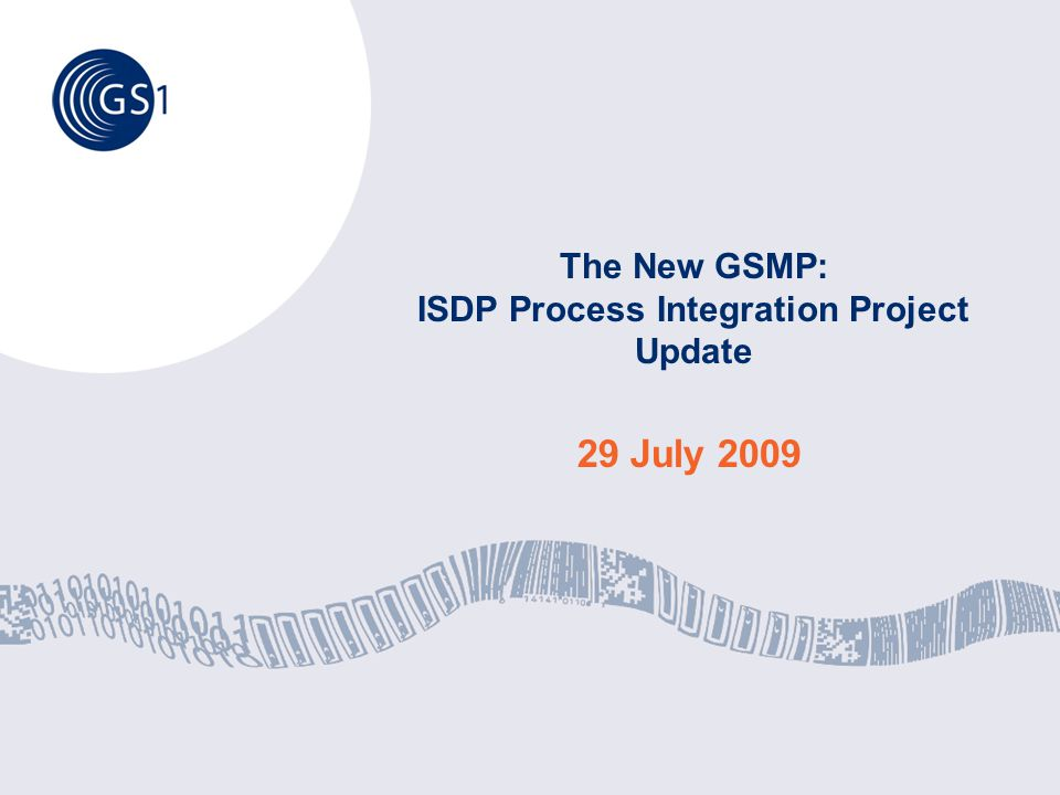 Moving forward together, to better serve your business ©2009 GS1 2 Agenda ISDP Background: The GS1 Organizational Effectiveness project OE 3A ISDP Project Reports Key Transformation Proposals Next Steps