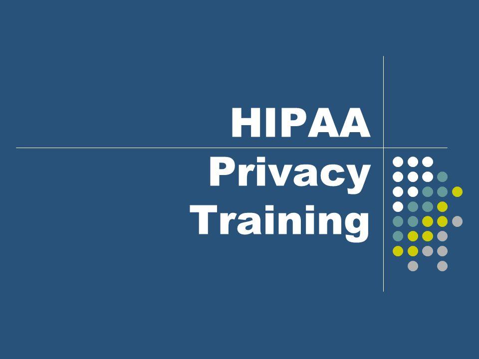 HIPAA Privacy Training