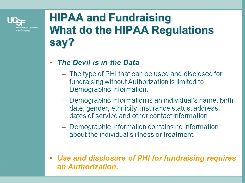 15 HIPAA and Fundraising What do the HIPAA Regulations say.