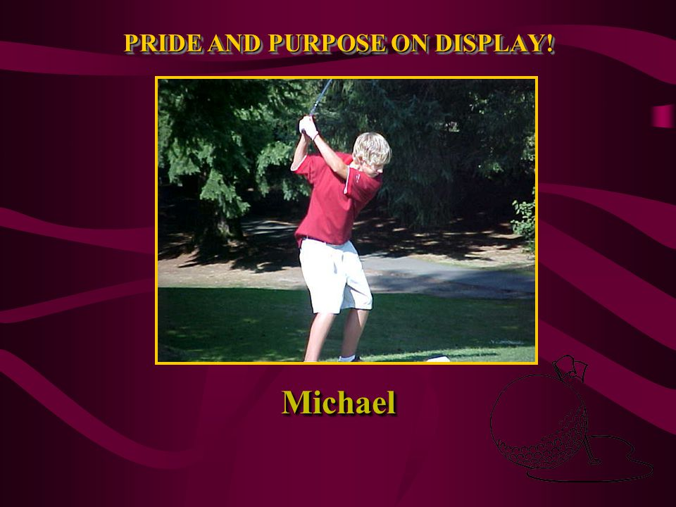 PRIDE AND PURPOSE ON DISPLAY! Josh at the Tee