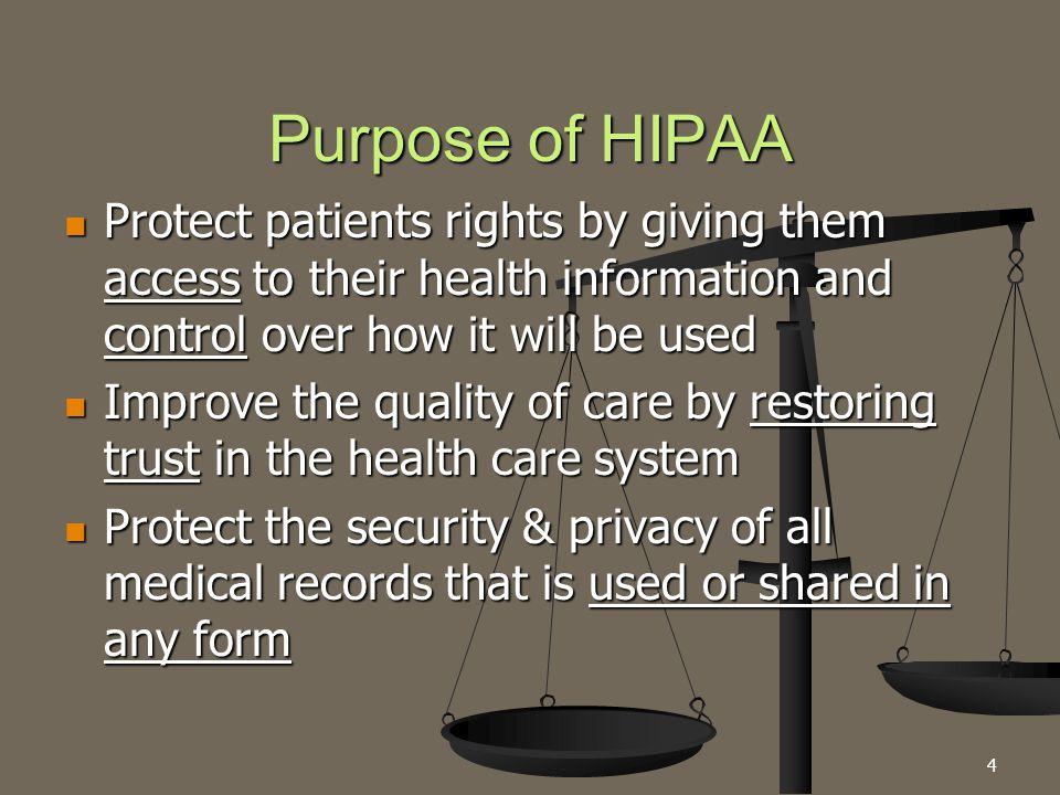 5 HIPAA Privacy vs.