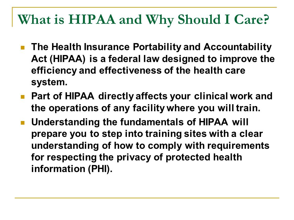 Content I.The Importance of Protecting Patient Health Information II.