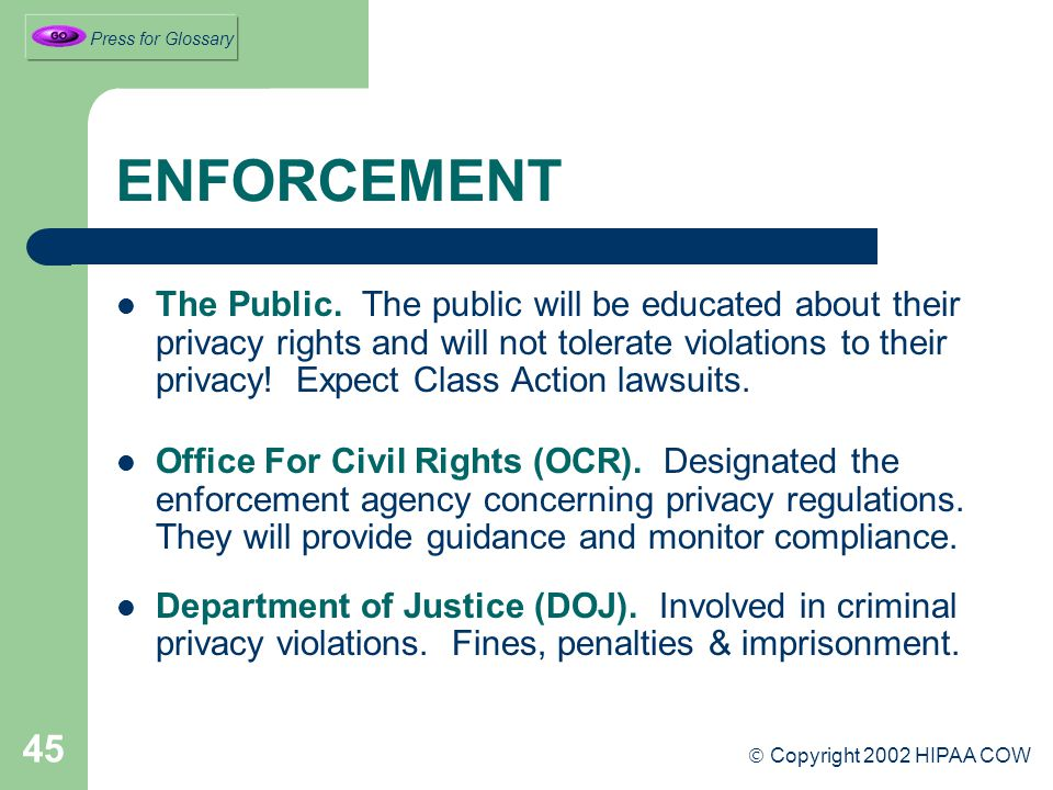 45 ENFORCEMENT The Public.