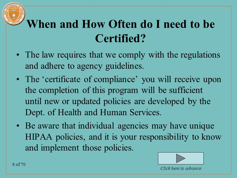 9 of 70 What Objectives do the Privacy Regulations Accomplish for Patients.