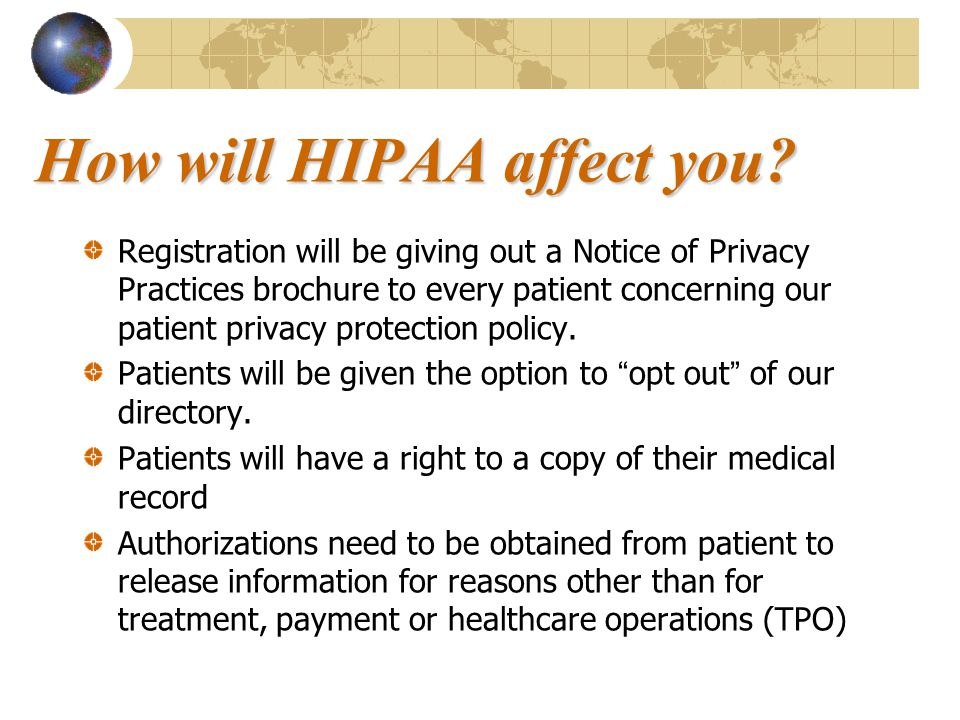 How will HIPAA affect you.