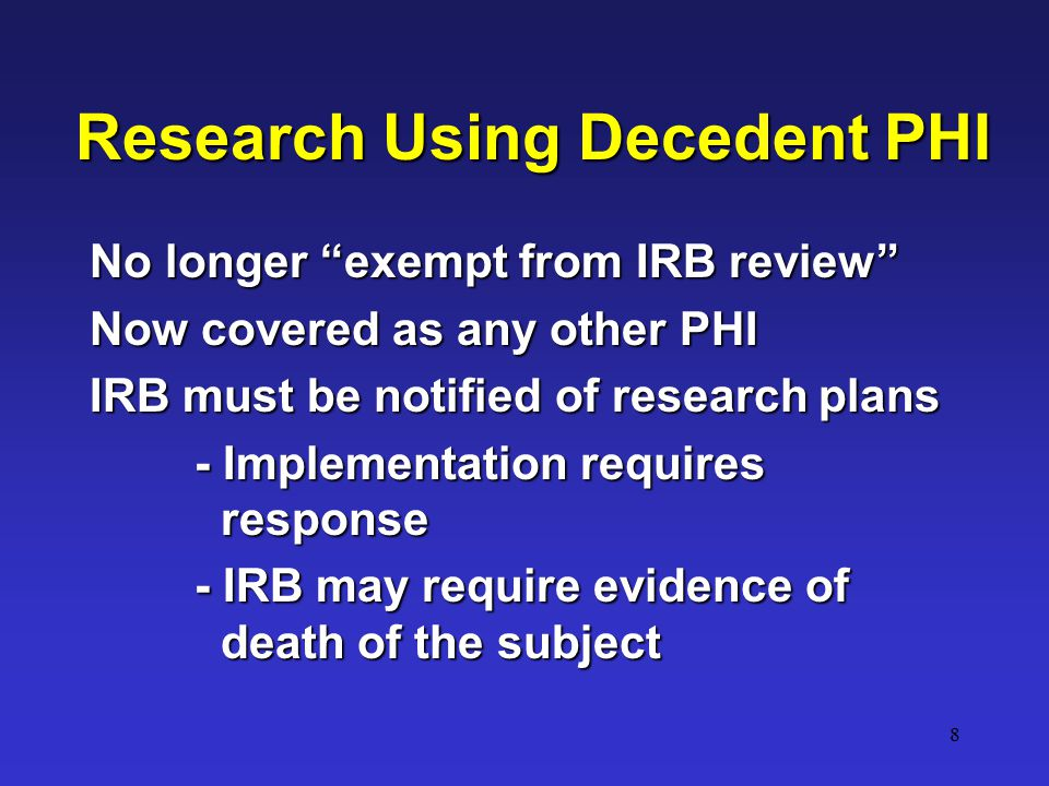 19 Note: May use/disclose data as described in IRB protocol.