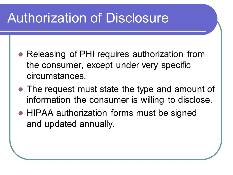 Accountability Under HIPAA Civil penalties $100/violation up to $25,000 per calendar year (Office of Civil Rights)