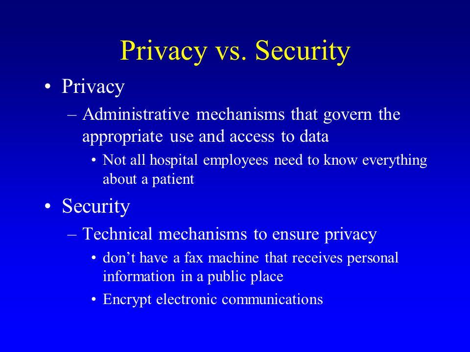 Privacy vs.