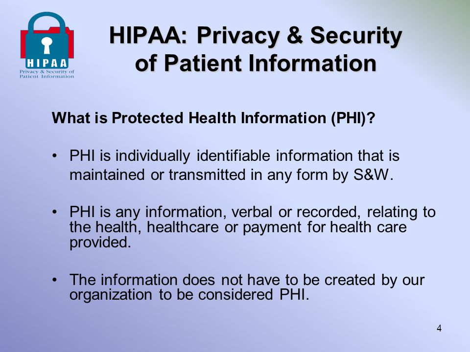 HIPAA Staff Responsibility Examples of Personal (Inappropriate) Use The following is not meant to be inclusive, but to give examples of misuse of Patient Information for personal reasons.