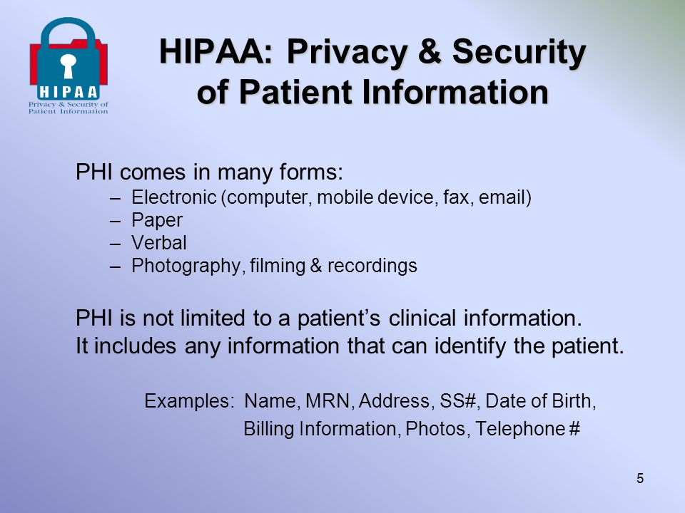 HIPAA Staff Responsibility Business Purpose Use in Scott & White There are times when accessing patient information for the business of Scott & White would involve accessing our own or families information in these instances it is best to refer this responsibility to someone not involved on a personal basis (supervisor, co-worker, etc).