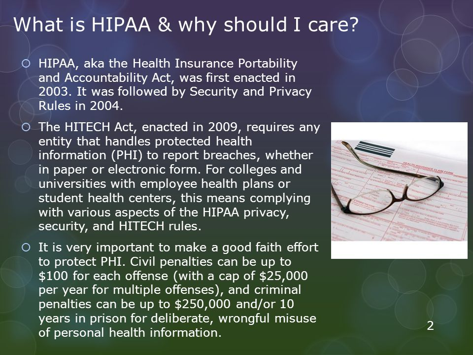 What is HIPAA & why should I care.