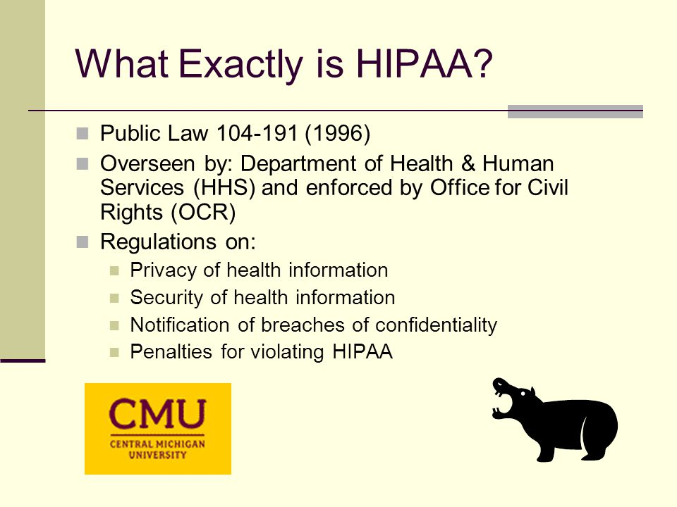 What Exactly is HIPAA.