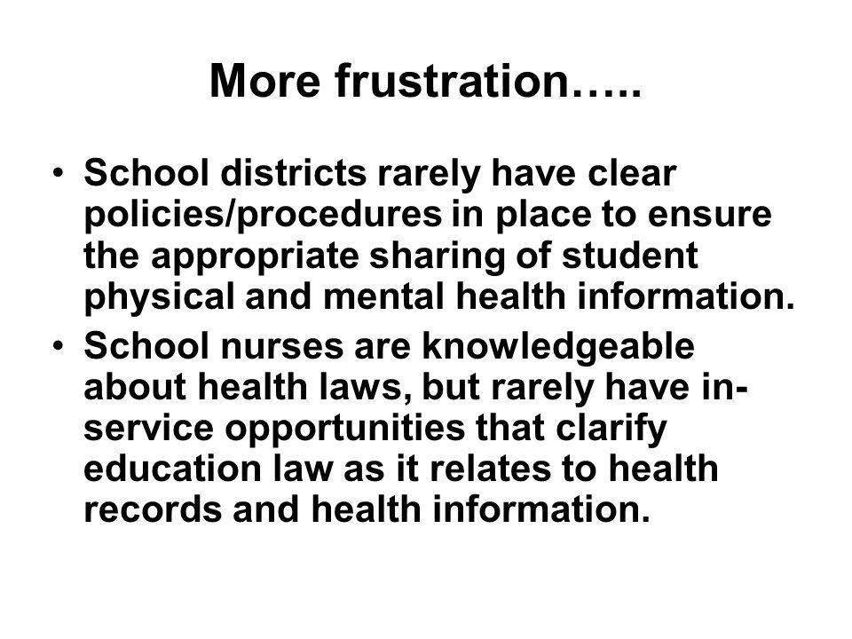More frustration…..