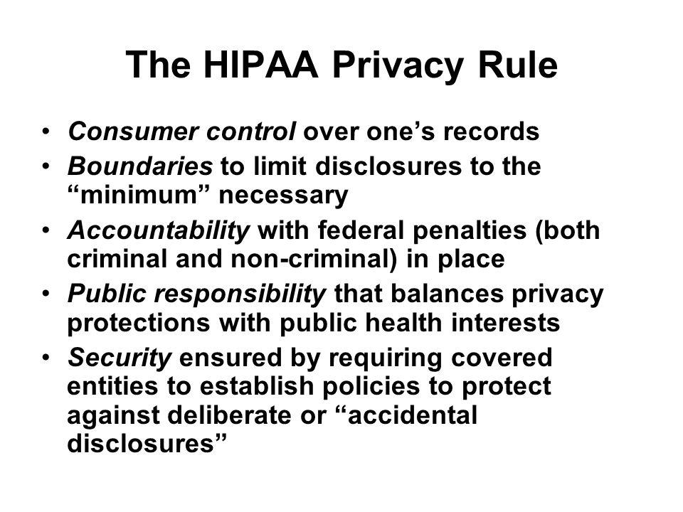 What's the bottom line regarding HIPAA.