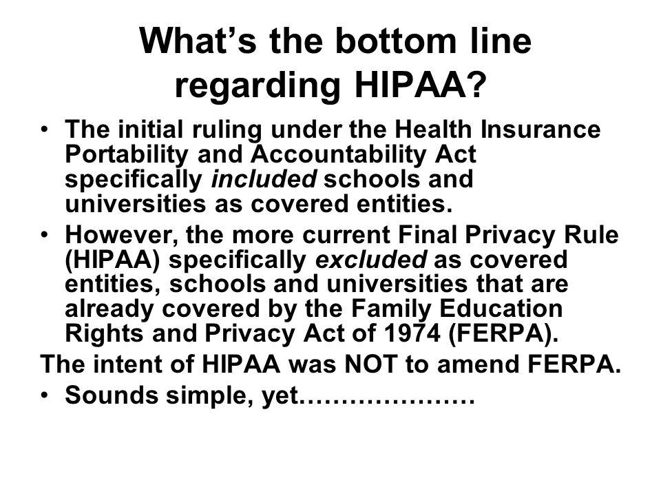 FERPA says…..
