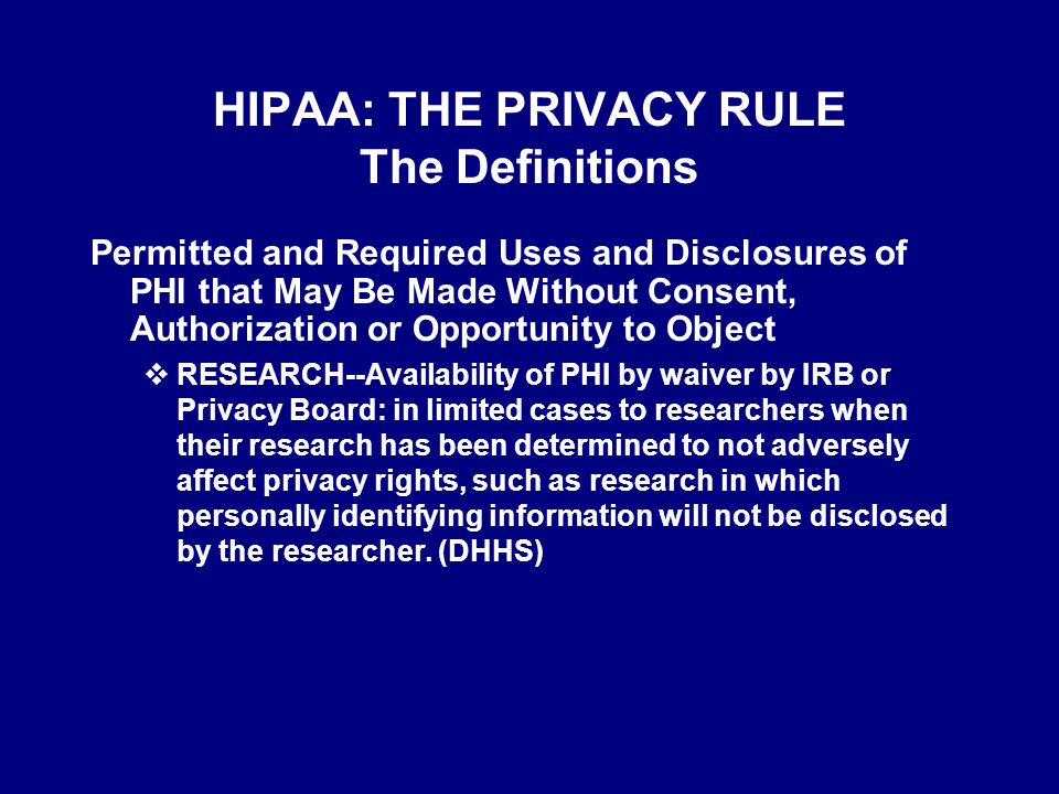 Privacy Rule & Research  Why.