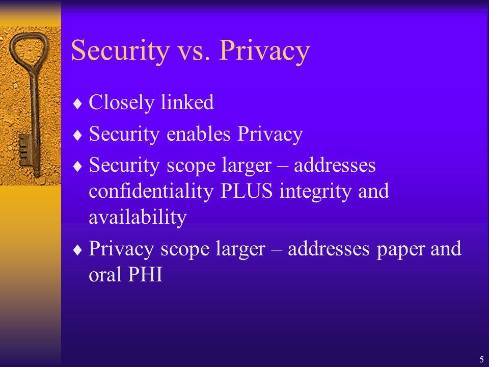 5 Security vs.