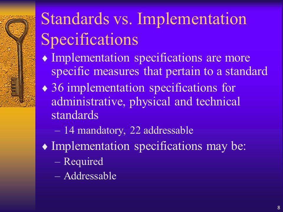 8 Standards vs.