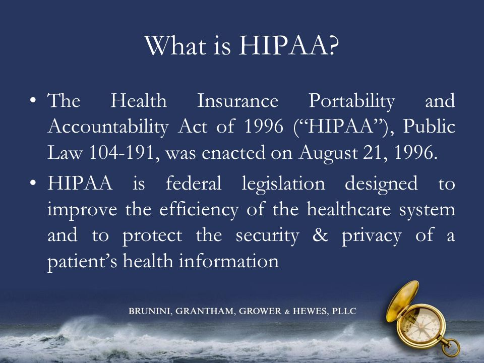 What Does HIPAA Do.
