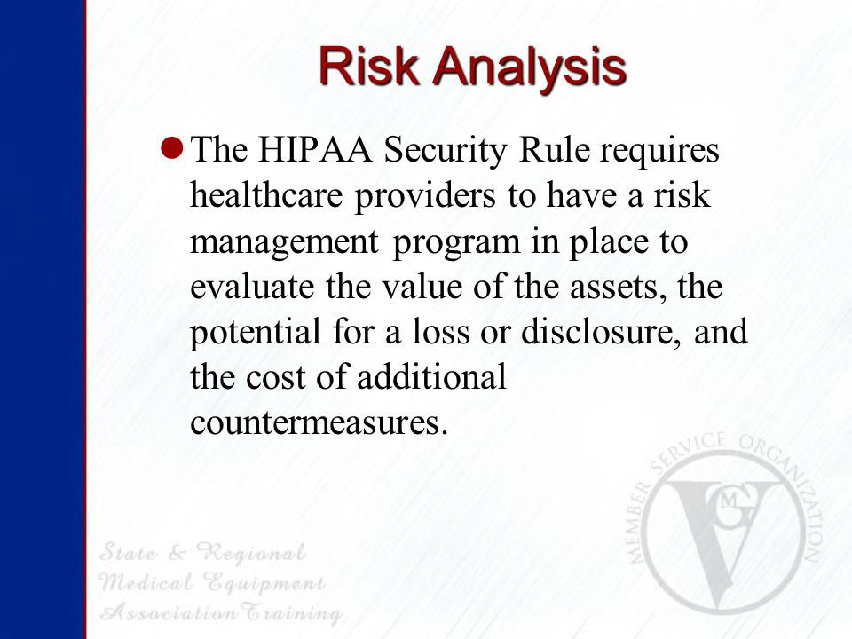 Risk Analysis It is a Required specification.
